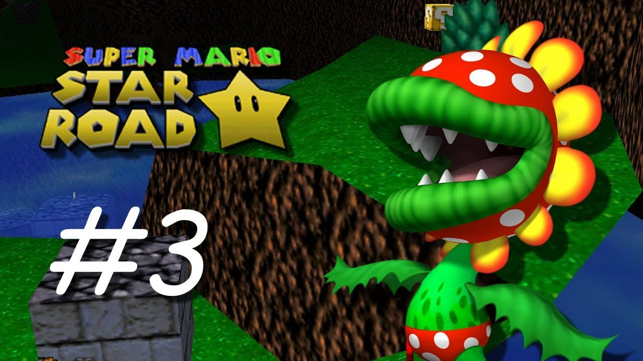 Super Mario Star Road [#3] - Piranha Plant Pond - (N64 Rom Hack)