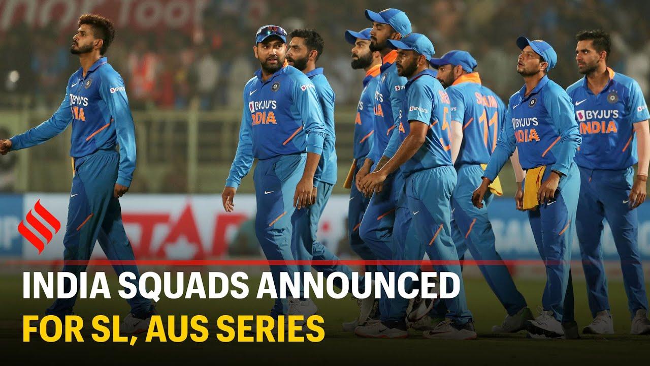 India T20 Odi Squad Players List Team For Sri Lanka Australia Series 2020 Ind Vs Sl India Vs Sri Lanka Ind Vs Aus India Vs Australia Series 2020 T20 Odi Schedule Squad