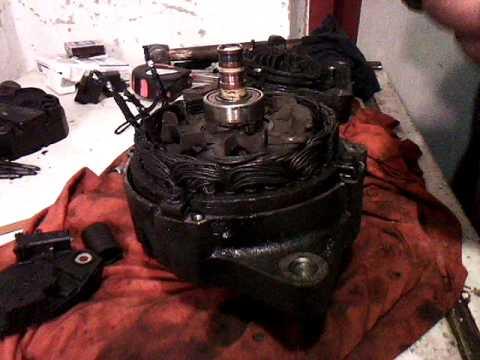 как поменять щетки на генераторе двигатель киа беста