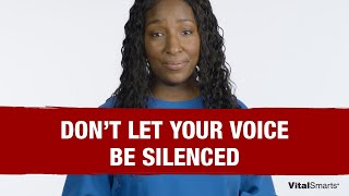 What To Do When Your Voice is Silenced