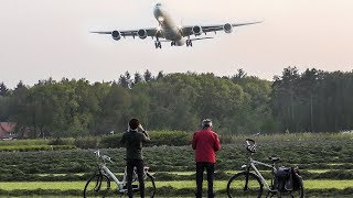 LAST LANDING of this AIRBUS A340-600 before scrapping + Hot Air Balloon passing by  - Good Bye (4K)