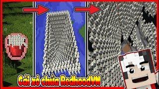 REDHOODVN ĂN NÁT CẢ THẾ GIỚI MINECRAFT CHỈ VỚI 1 XÔ NƯỚC !! SỐNG THẦN REDHOODVN ( MINECRAFT MODS )