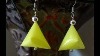 How to make earrings out of drinking straw