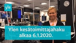 Ylen Uutis- ja ajankohtaistoiminnan kesätoimittajarekrytointi 2020