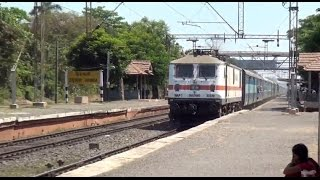 Express Trains in Aggression at Udvada, Western Railway behind Diesel & Electric Locomotives