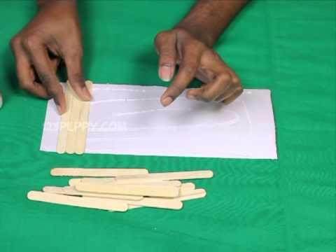 How to make  popsicle stick pen holder also youtube rh
