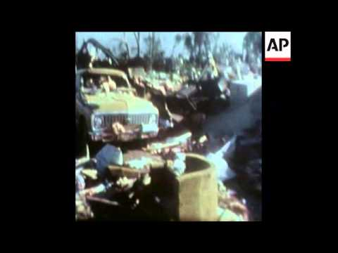 SYND 11-6-74 AFTERMATH OF TORNADO IN EMPORIA KANSAS
