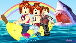 Roblox - FUGA NA BANANA BOAT (SharkBite)