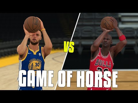 Stephen Curry VS Michael Jordan In A Game of HORSE? NBA 2K18 Challenge!