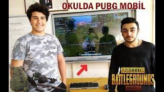 OKULDA PUBG MOBİLE OYNADIK /AKILLI TAHTADA GERÇEK