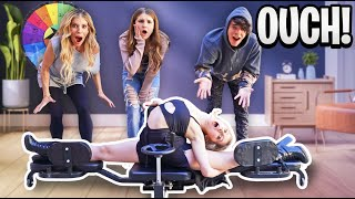 How Far Can You SPLIT CHALLENGE With Rebecca Zamolo **OUCH!** |Elliana Walmsley