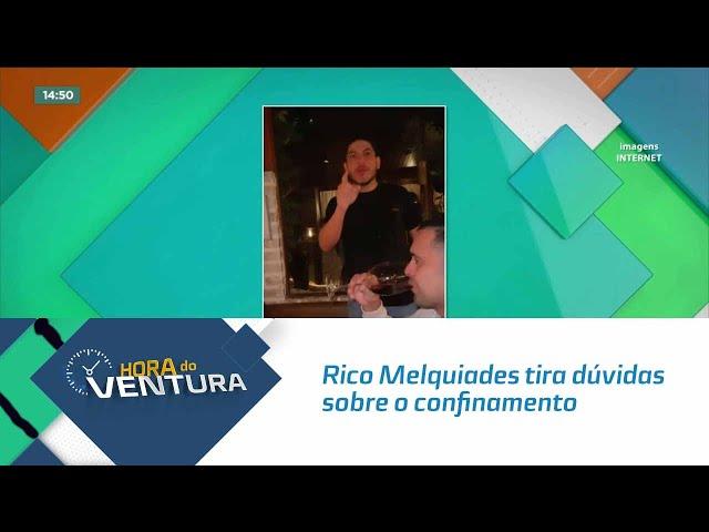 Rico Melquiades tira dúvidas sobre o confinamento do Power Couple