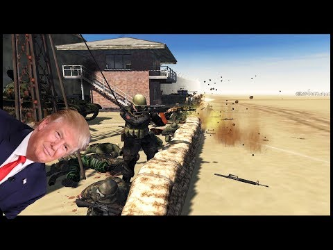 DEFENDING TRUMPS WALL 3.0 ~ M1A1 Abrams Border Patrol - Men of War: Red Rising Mod