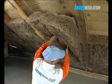 видео: Утепление скатных кровель теплоизоляцией knauf insulation