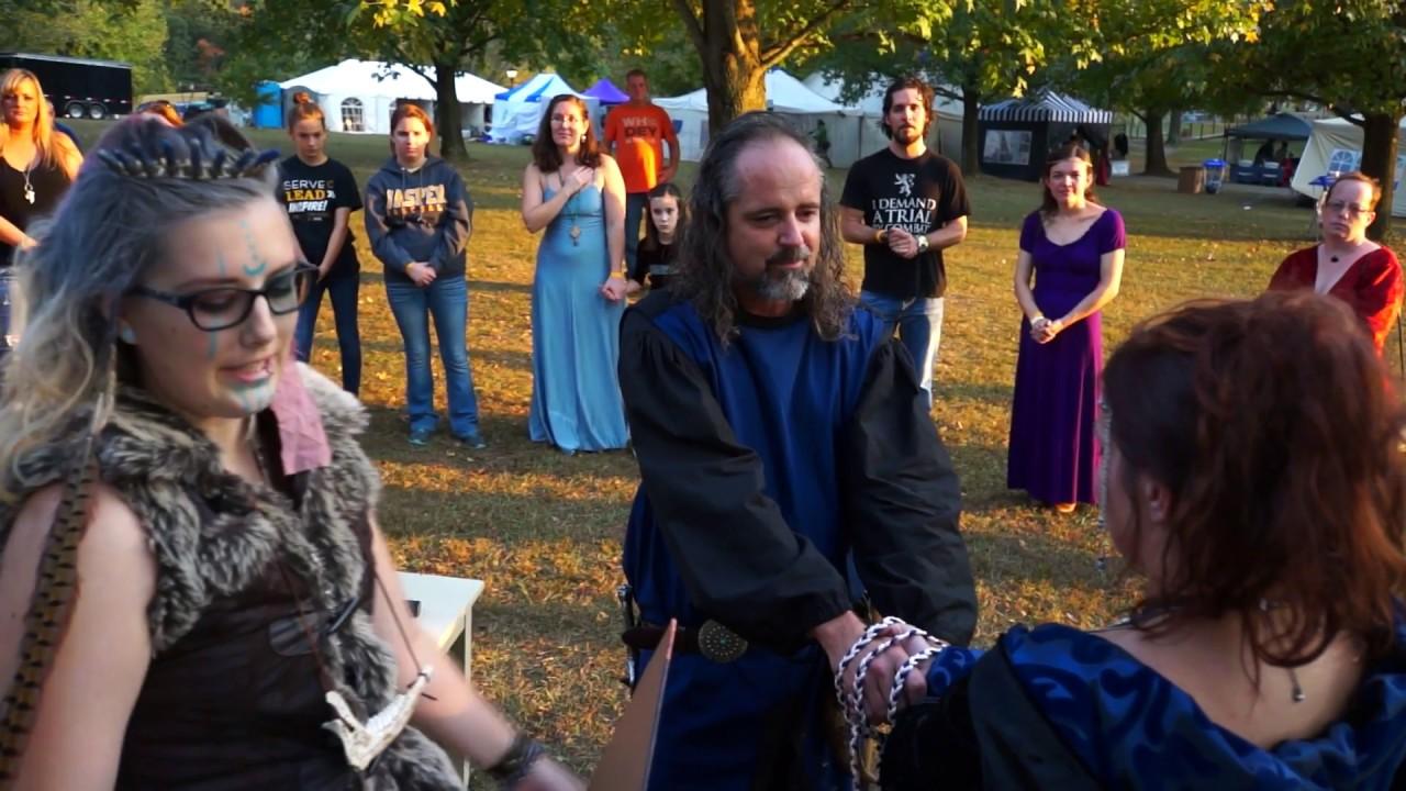Medieval Wedding Ceremony - YouTube