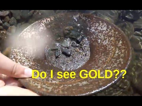 Gold panning, Juneau Alaska
