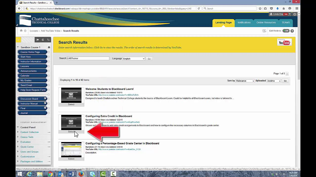 Uploading Video Links To Blackboard Youtube
