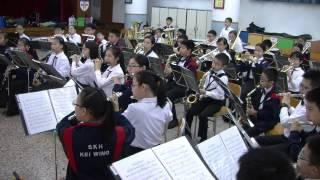 聖公會基榮小學_1415銀樂隊比賽前練習_2