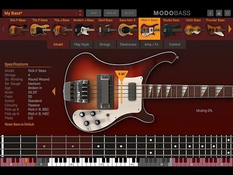 "Intro / Overview - ""MODO BASS"" (virtual elec bass guitar by ik Multi Media)"