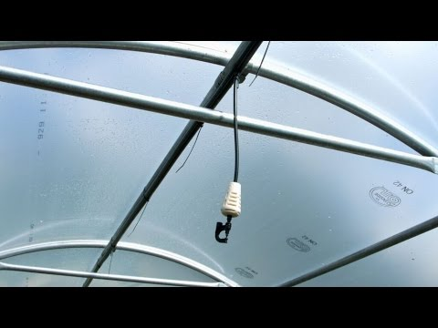 Fitting An Overhead Irrigation System On Polytunnel