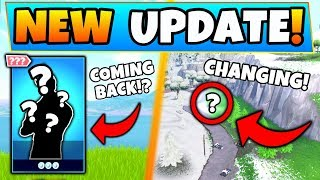 Fortnite Update: THIS SKIN'S RETURNING + MAP is CHANGING?! - 8 New Things Coming to Battle Royale!
