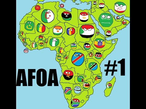 Alternate future of Africa in countryballs #1