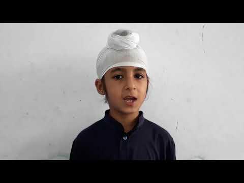 Charity brings prosperity! Manjot kaur of Akal Academy seona  reciting a Punjabi poem