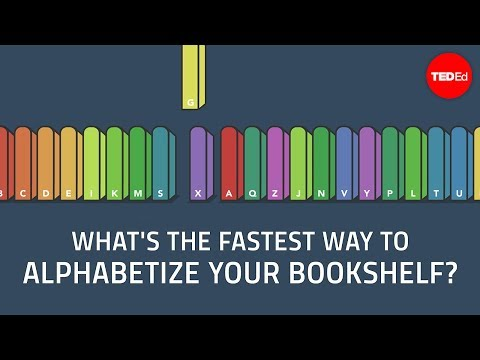 Thumbnail: What's the fastest way to alphabetize your bookshelf? - Chand John