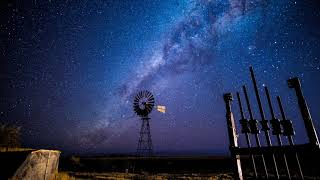 Windmill Starscape Timelapse