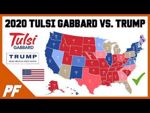 Tulsi Gabbard vs. Donald Trump 2020 Map Prediction - 2020 Electoral Map Projection
