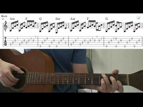 Let Her Go (Passenger) - Easy Fingerstyle Guitar Playthrough Tutorial With Tab thumbnail