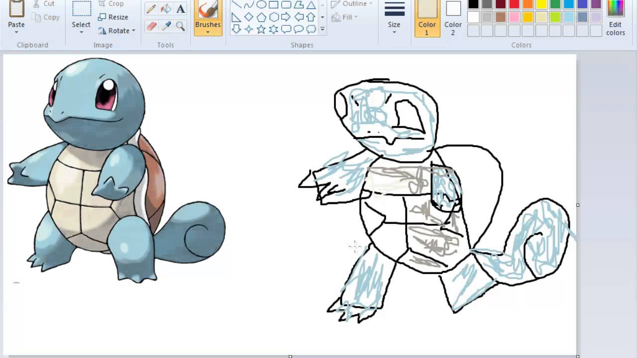 pokemon how to draw squirtle