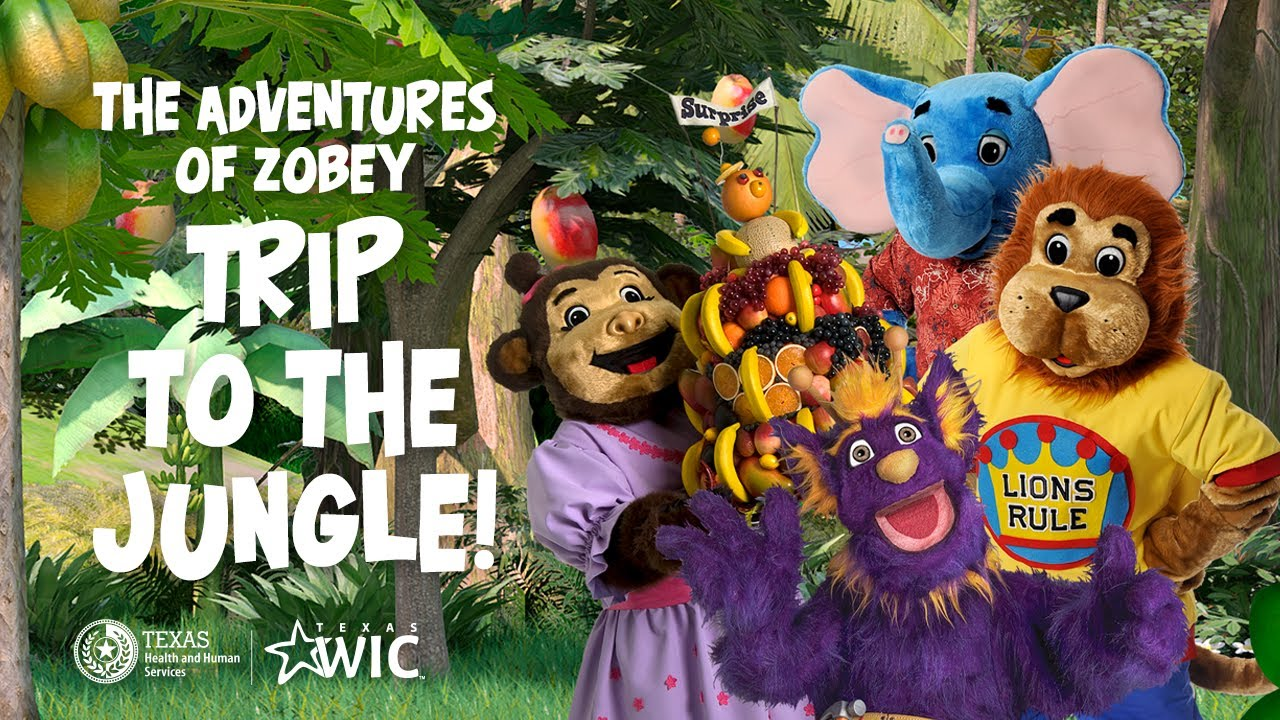 Trip to the Jungle!  | The Adventures of Zobey | Fun Indoor Kids Activities | TexasWIC.org/kids