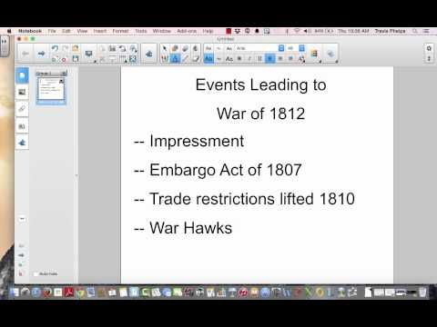 Events Leading to War of 1812 Video