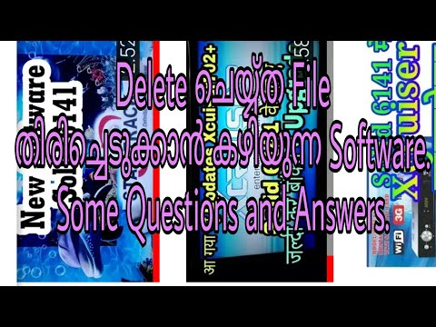How to Recover Data Files from  Formatted Hard Disk/Pen Drive/SD Card.Question and Answers Malayalam