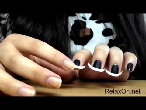 Черный дизайн ногтей - рисунки на черных ногтях лаком