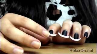 Дизайн ногтей черный френч от www.RelaxOn.net