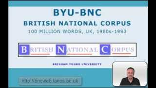 Linguistic Data Analysis - Using the BNC