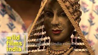 Wood Sculpture - Dolls Of India