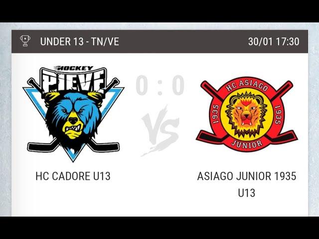 Incontro di Hockey Under 13 HC CADORE vs HOCKEY ASIAGO