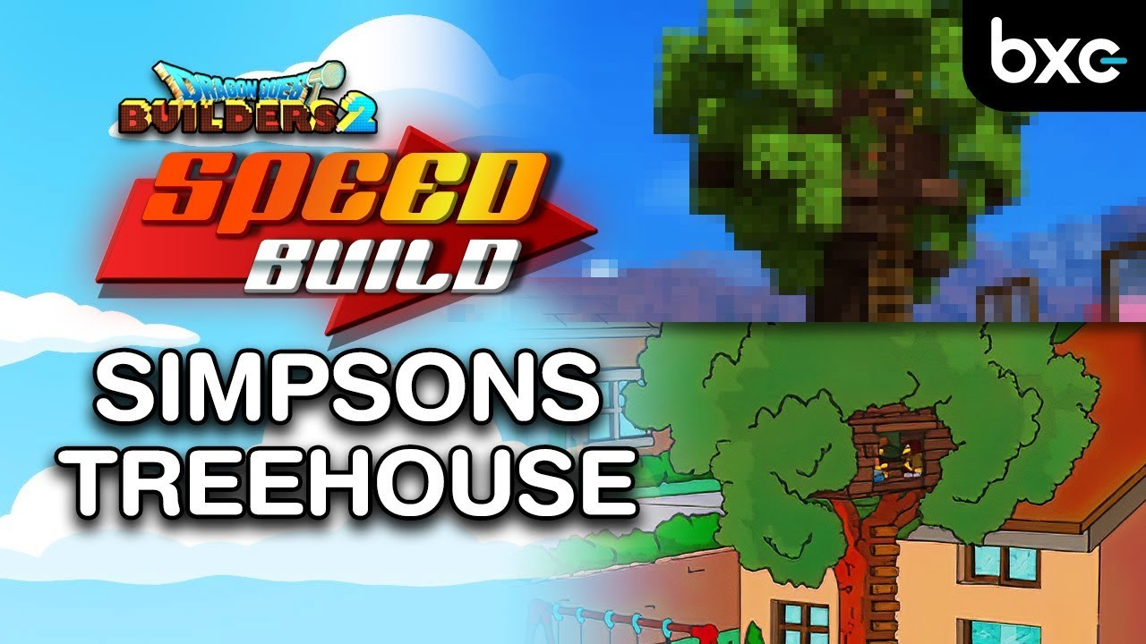 The Simpsons Treehouse | Speed Build in Dragon Quest Builders 2