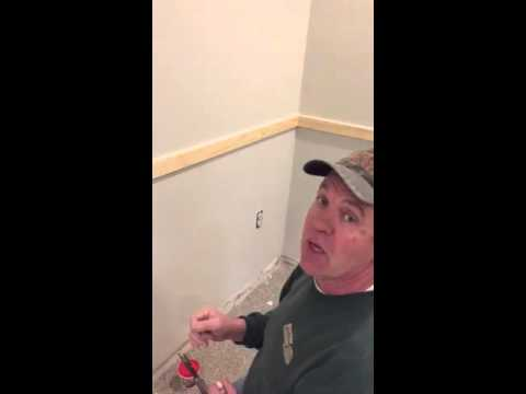 How To Fill Nail Holes In Trim Work Youtube