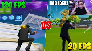 I LOWERED my FPS after every Death on Fortnite Mobile (120fps vs. 20fps)