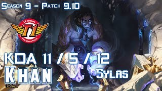 SKT T1 Khan SYLAS vs RYZE Top - Patch 9.11 KR Ranked