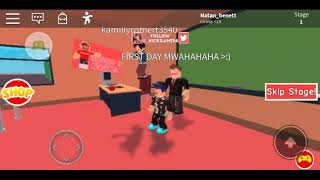 First video on channel (ROBLOX) escape School Obby