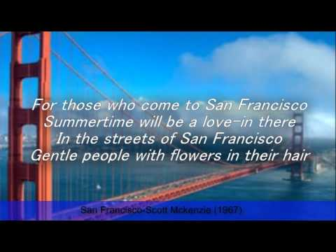 San Francisco-Scott Mckenzie (Lyrics)---R.I.P Scott