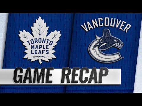 Edler nets OT winner as Canucks top Maple Leafs, 3-2