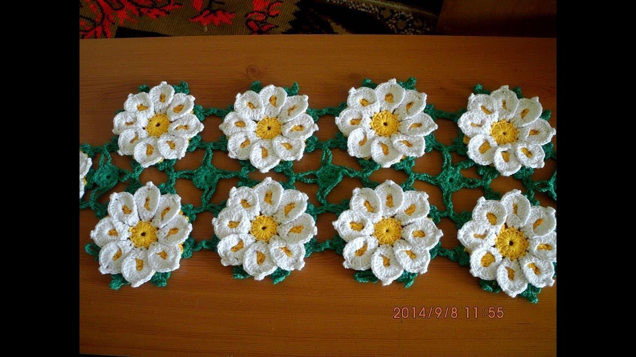 Floare Crosetata Margareta Partea I Youtube