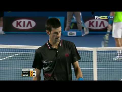 Djokovic can volley too! Nice touching!