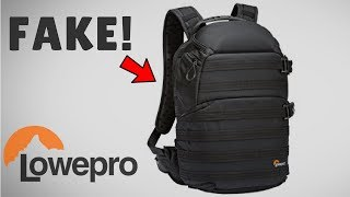 bought A Fake Lowepro ProTactic 350 AW Camera Bag